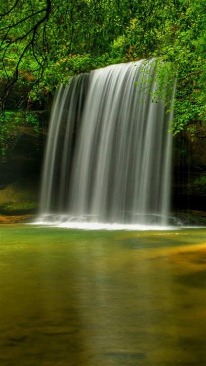 壁纸 风景 旅游 瀑布 山水 桌面 417_741 竖版 竖屏 手机