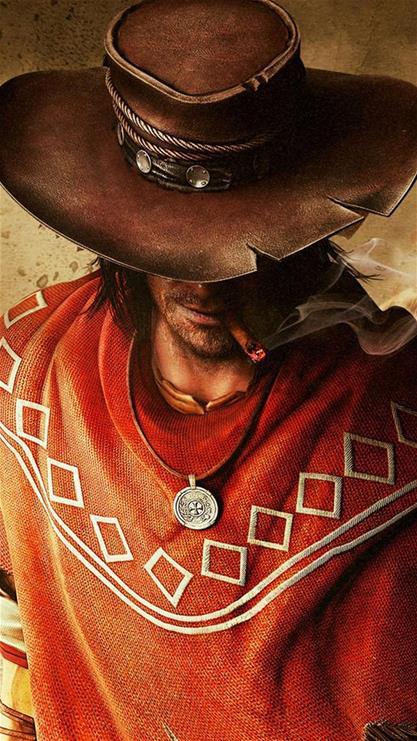 游戏,牛仔,帽子,雪茄,烟斗,挂坠,棕色