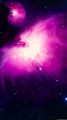 粉色星空画手绘