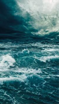 大海,海水,风暴,海浪,蓝色