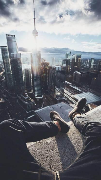 都市,高空,爬高,黑色