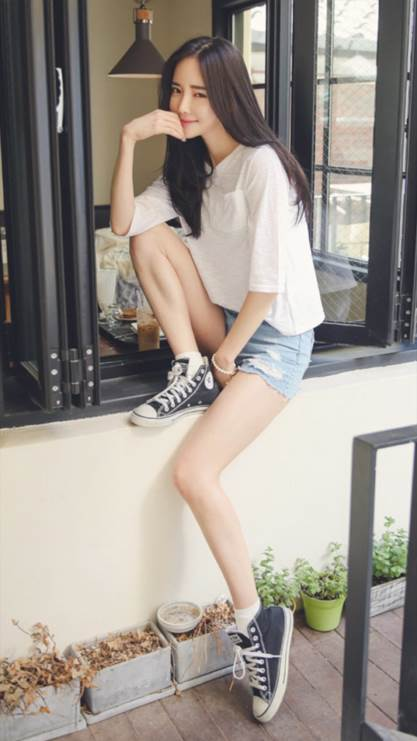 清新,韩国,摄影,阳光,长腿,彩色