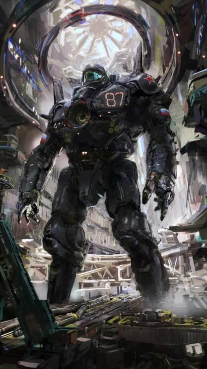 机器人,未来,机甲,彩色