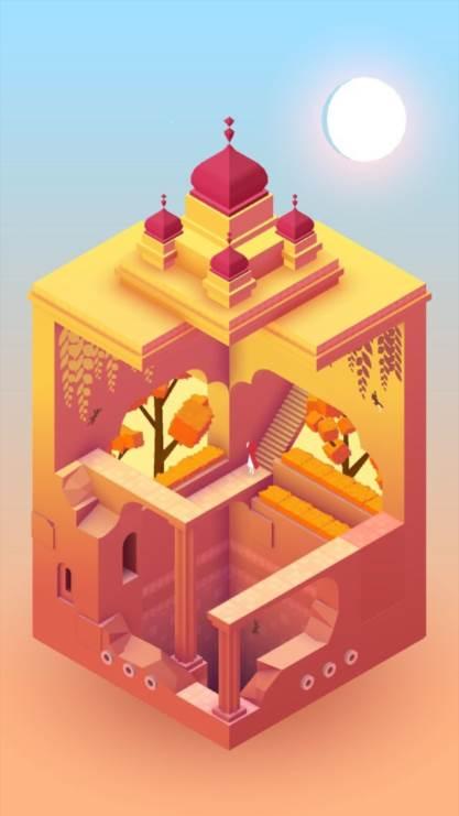 纪念碑谷2,纪念碑谷,游戏壁纸,屏锁,唯美,彩色