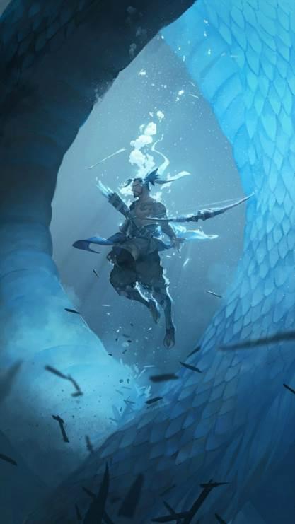 暴雪,守望先锋,龙,主屏,帅,半藏,蓝色