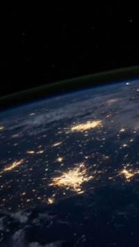 星球,地球,夜晚,星空,太空,银河