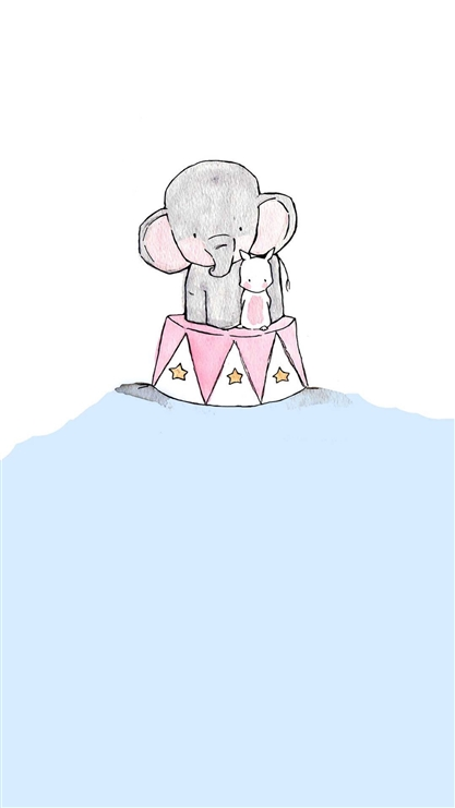 大象,兔子,可爱,萌,卡通,动漫,彩色