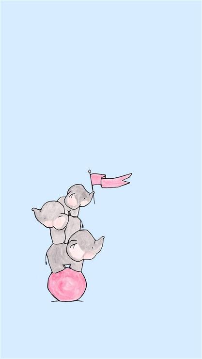 大象,简约,可爱,萌,卡通,动漫,彩色